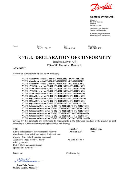 FC51 C-Tick认证