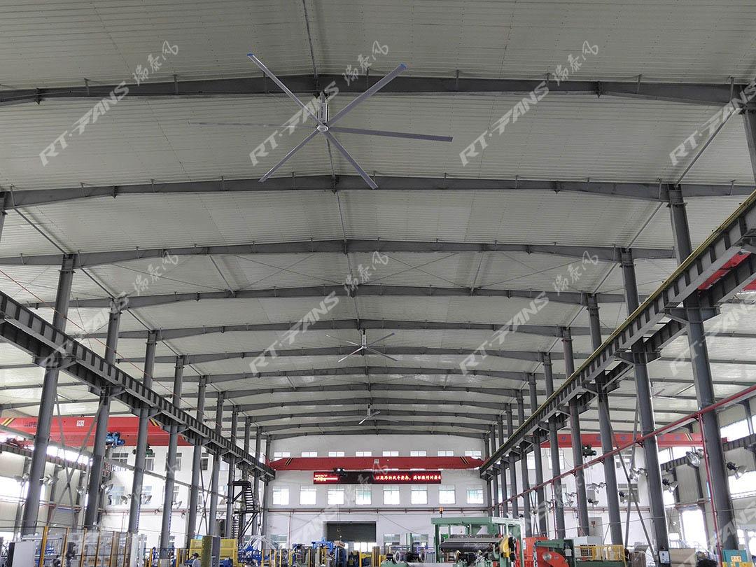 工业大吊扇-厂房里的大自然微风舒适极了